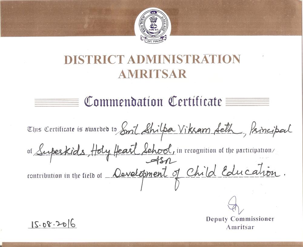 Development of Child Education Award